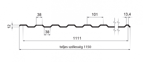 T12 – trapézlemez
