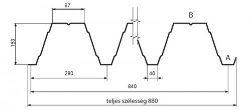T153 trapézlemez