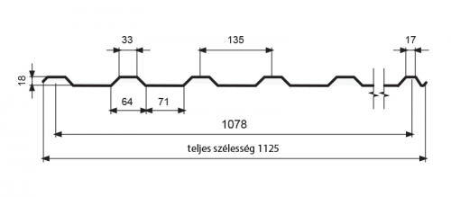 T-18 trapézprofil