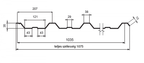 T35 – trapézlemez