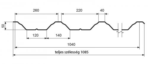 T50 – trapézlemez