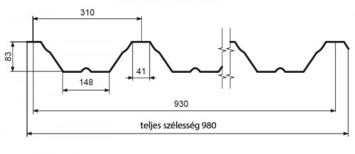 T-85 – trapézlemez